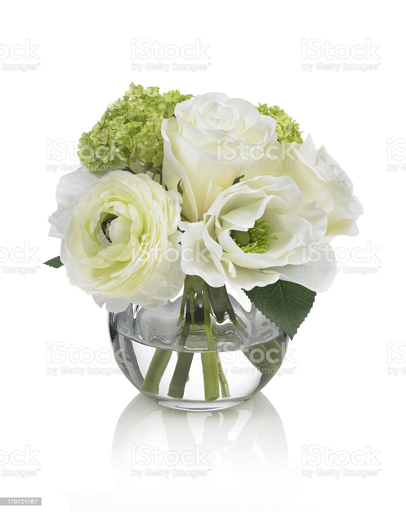 Small white Spring bouquet on a white background stock photo