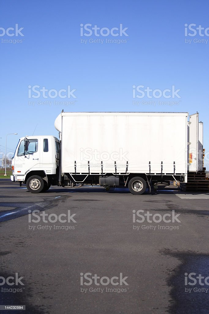 Small white truck royalty-free stock photo