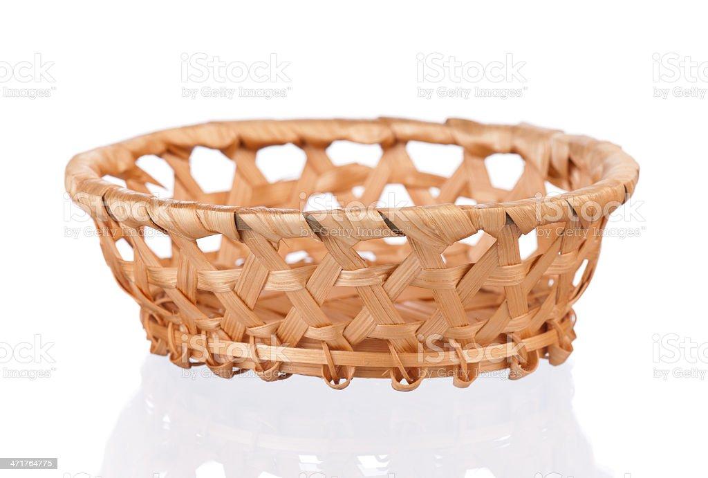 Small wicker basket royalty-free stock photo
