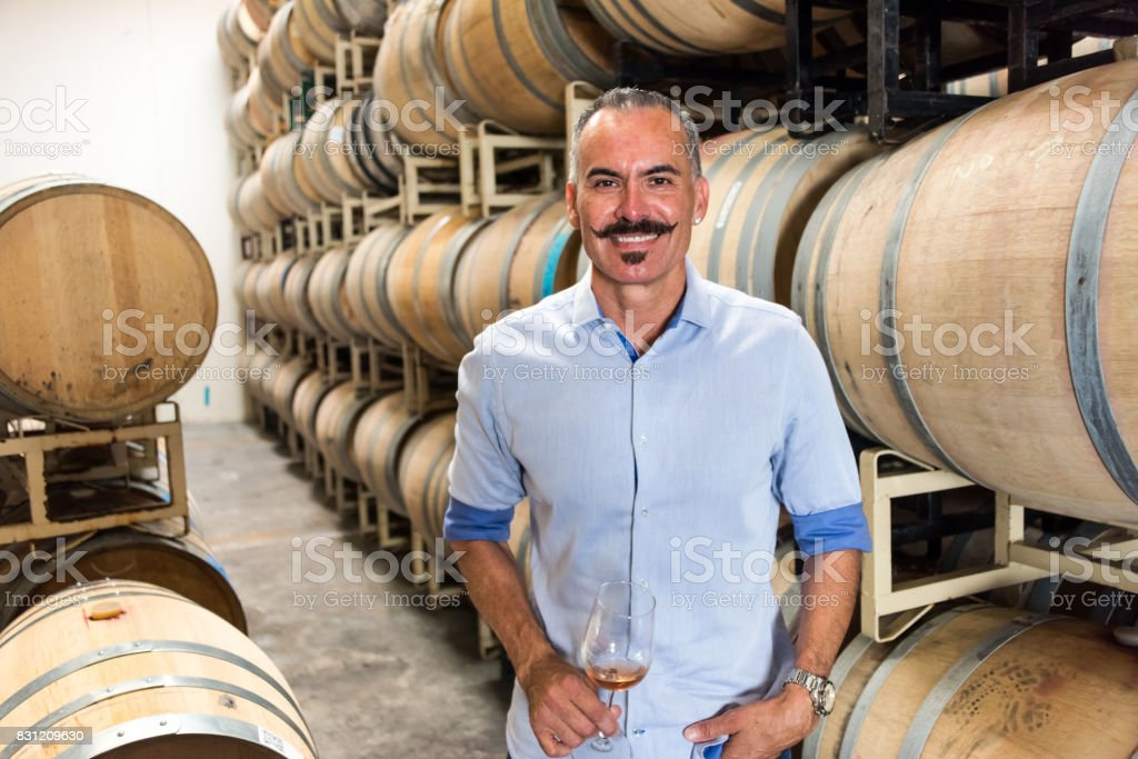 Small winery owner stock photo