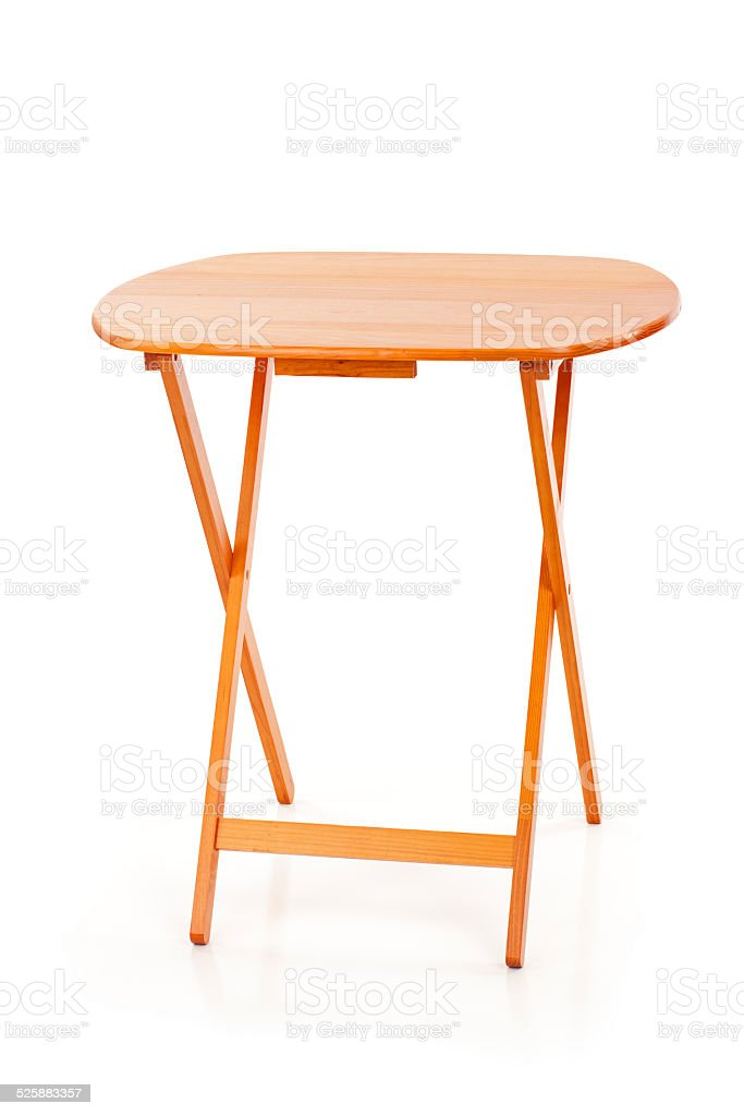 Small Wood Folding Table stock photo