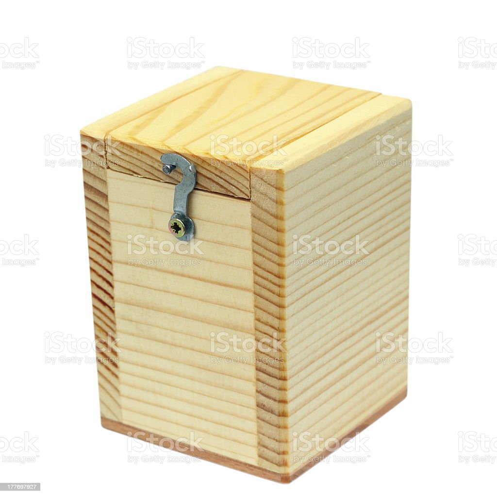 small wooden box royalty-free stock photo