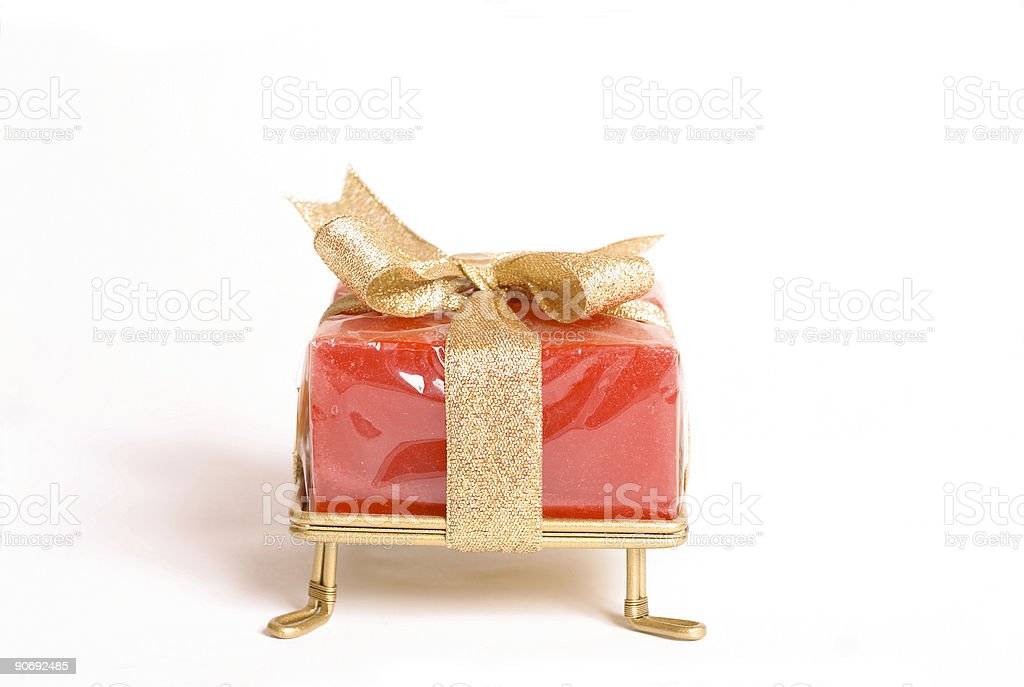 Small wrapped gift royalty-free stock photo