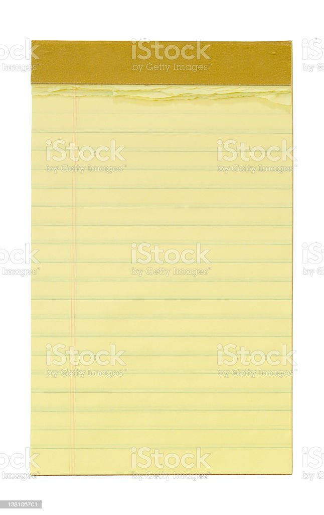 Small Yellow Lined Notepad royalty-free stock photo