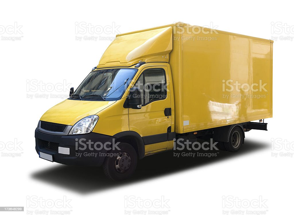 Small Yellow truck royalty-free stock photo