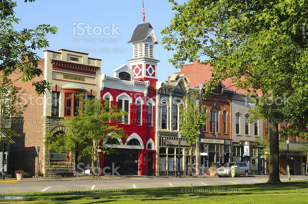 Small-town USA stock photo