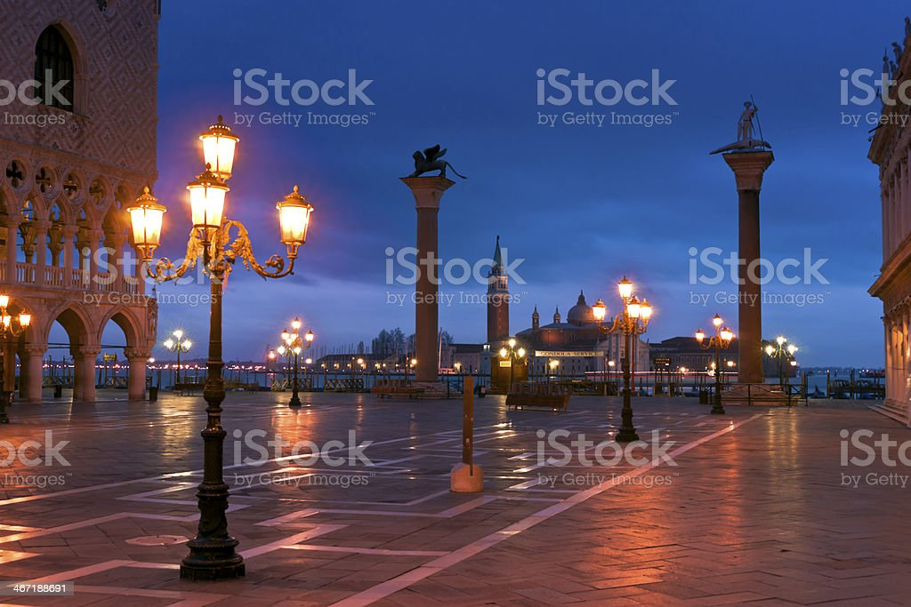 S.Marco Canal view in winter morning royalty-free stock photo