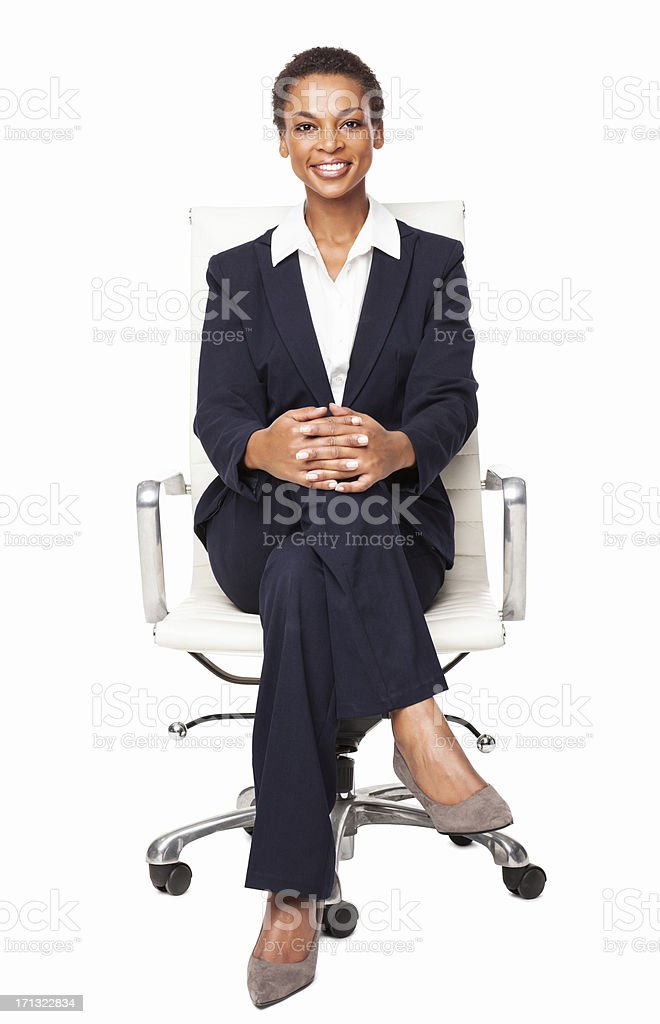 Smart African American Businesswoman - Isolated stock photo
