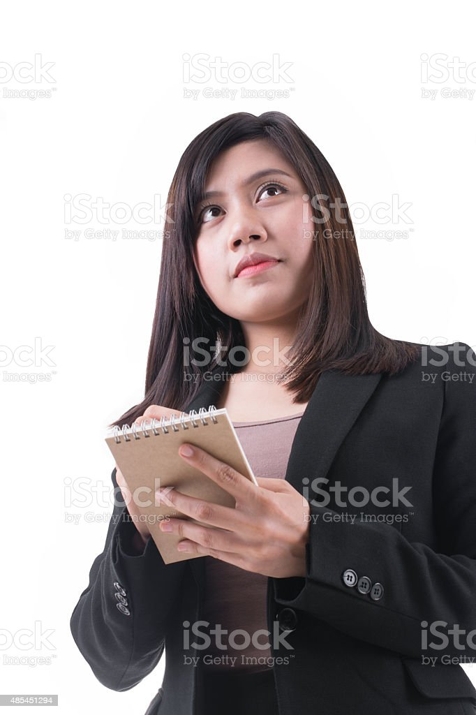 Smart Asian Secretary Taking Note royalty-free stock photo