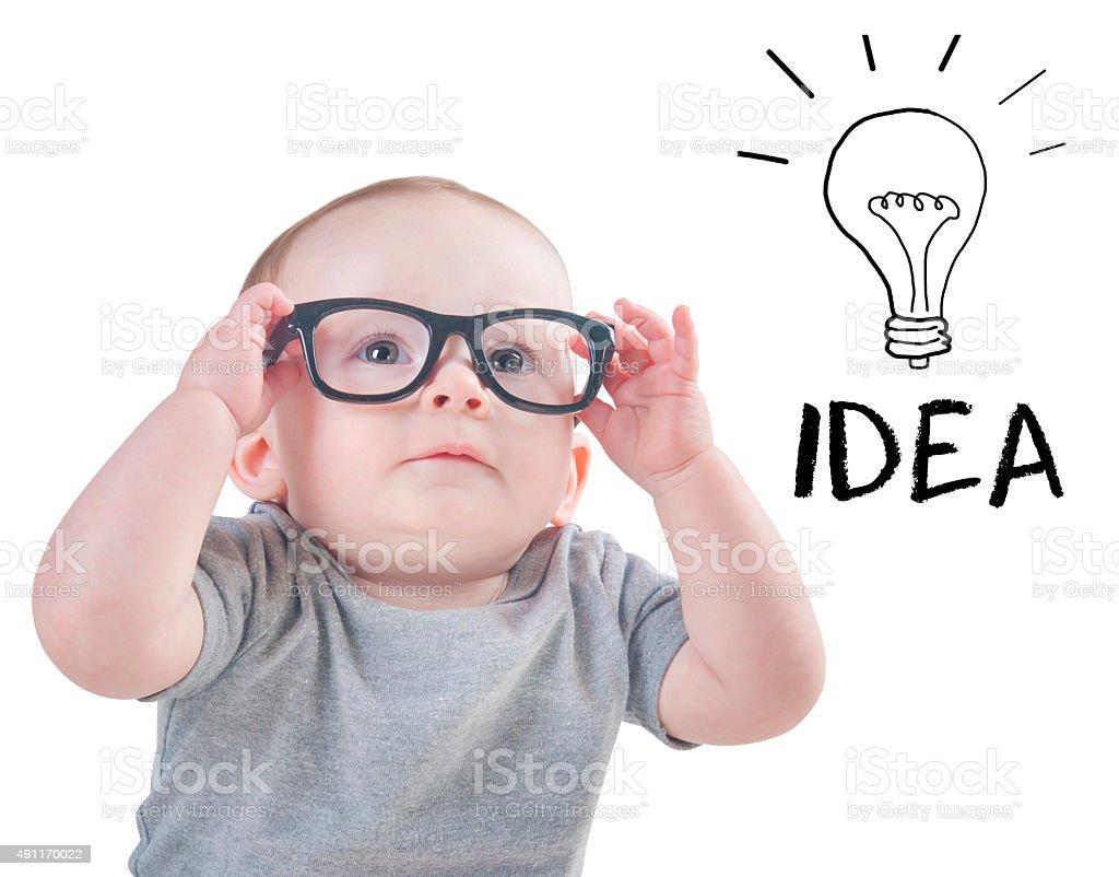 Smart baby an Idea stock photo