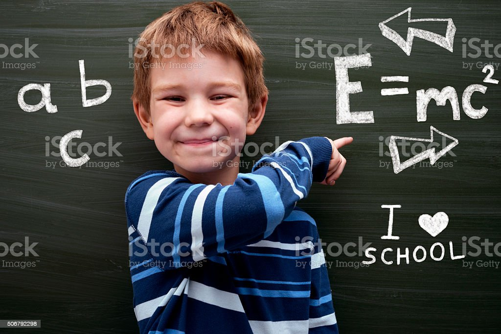 Smart Boy stock photo