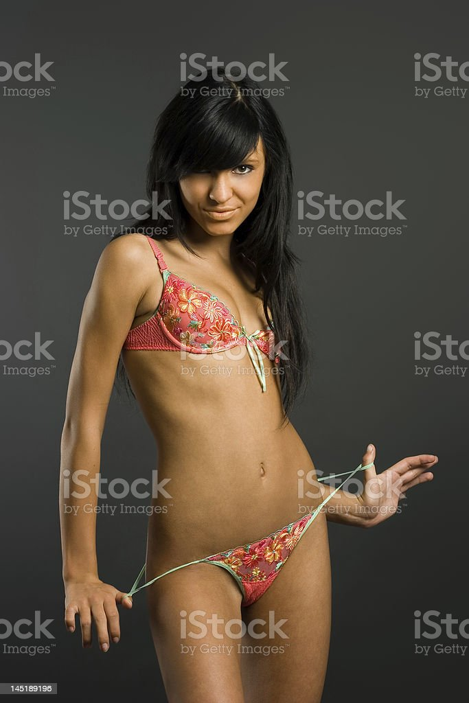 Smart brunette royalty-free stock photo