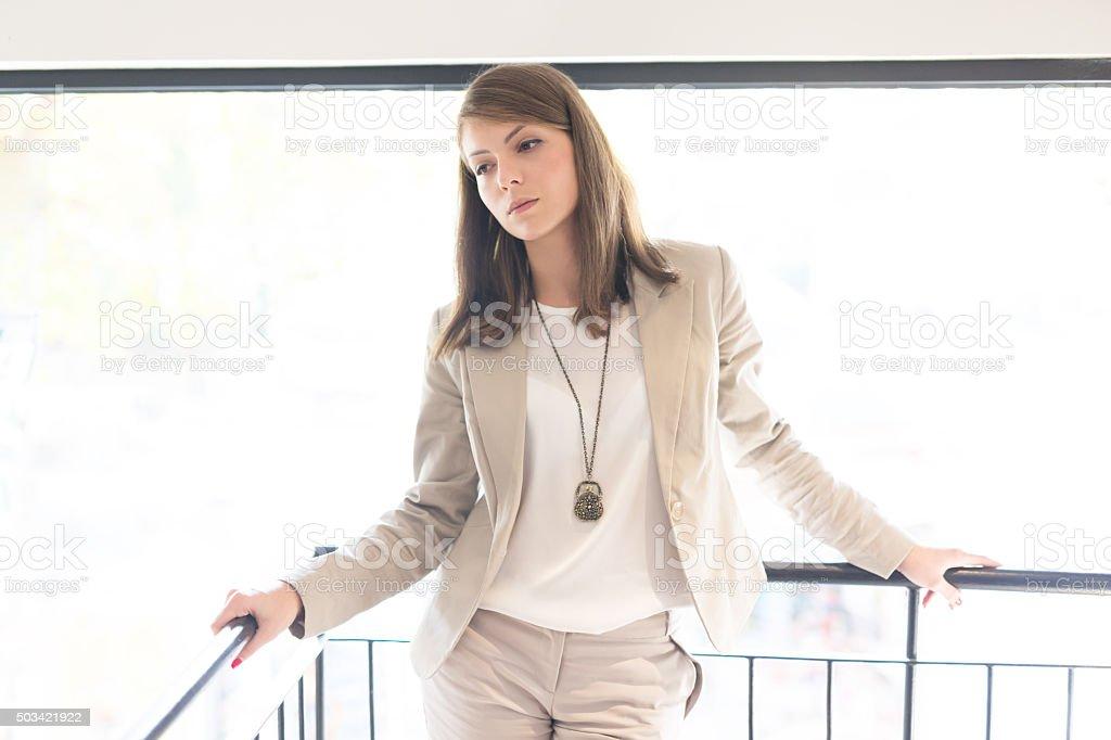 Smart Brunette stock photo