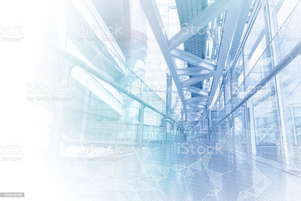 smart building and mesh network, abstract image visual stock photo