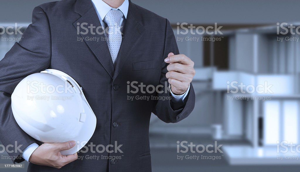 smart business engineer royalty-free stock photo
