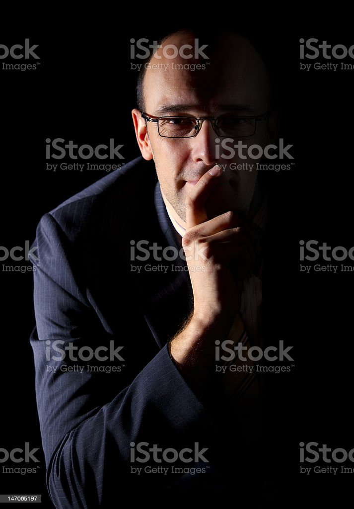 Smart businessman royalty-free stock photo
