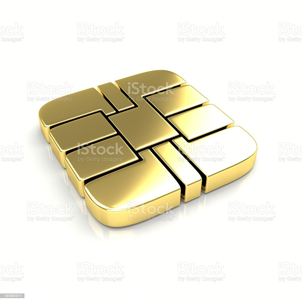 Smart Card Chip (EMV) stock photo