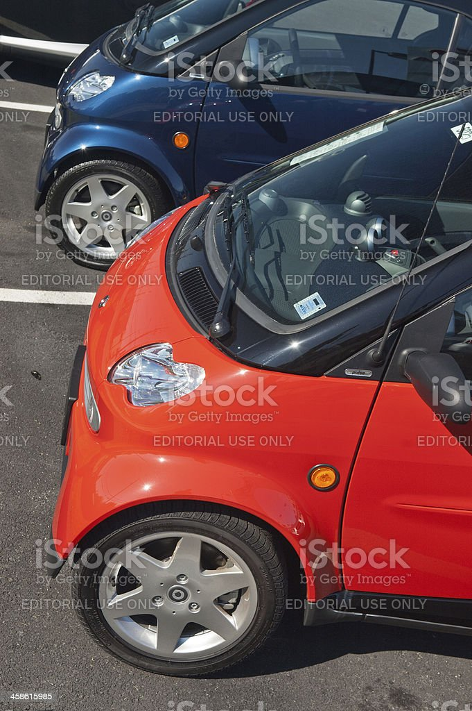 Smart Cars royalty-free stock photo