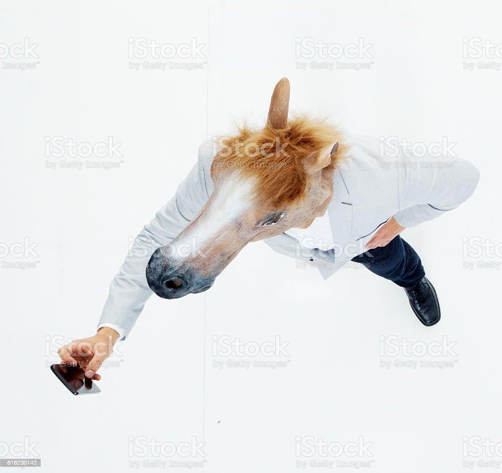 Smart casual man taking a selfie stock photo