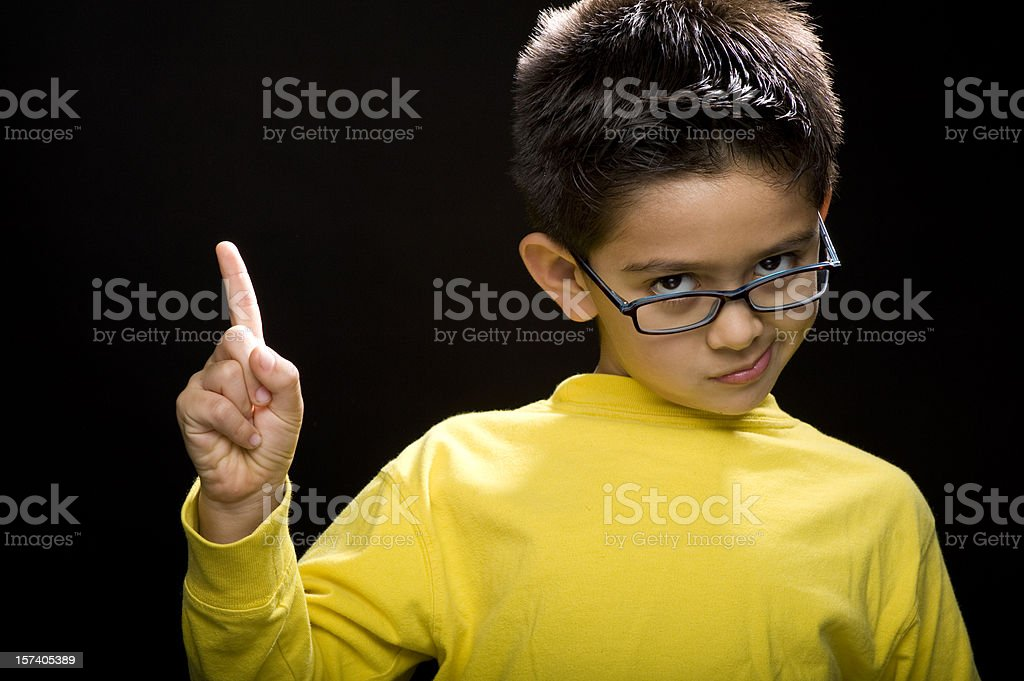 Smart child royalty-free stock photo
