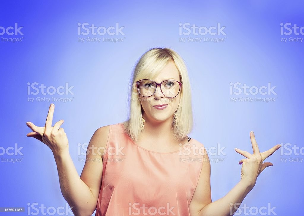 Smart College Student Shrugging stock photo