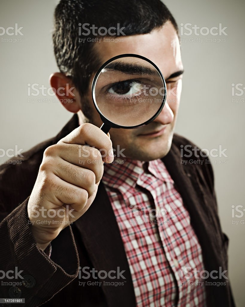 Smart detective royalty-free stock photo