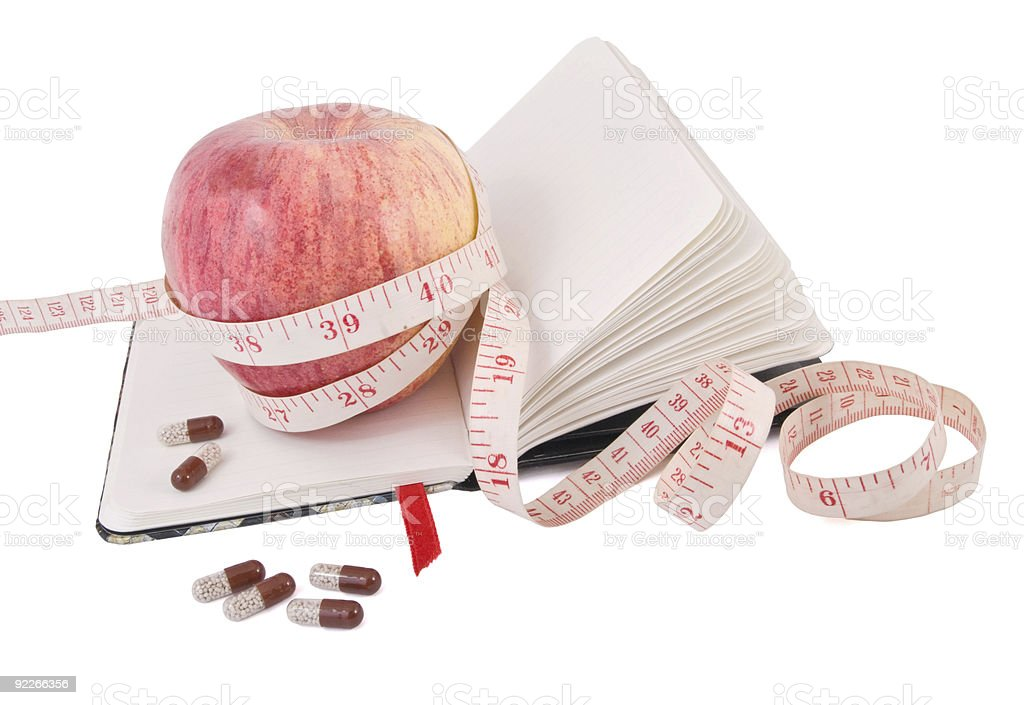 Smart diet with fruit and vitamins royalty-free stock photo