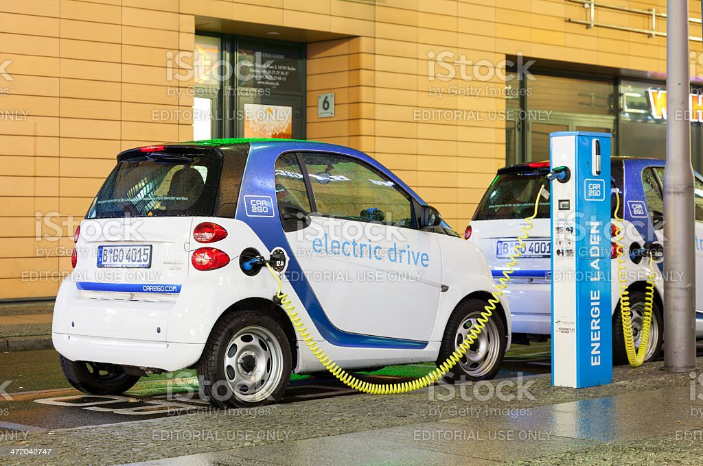 Smart Electric Dive CAR 2 GO Charging at Station royalty-free stock photo