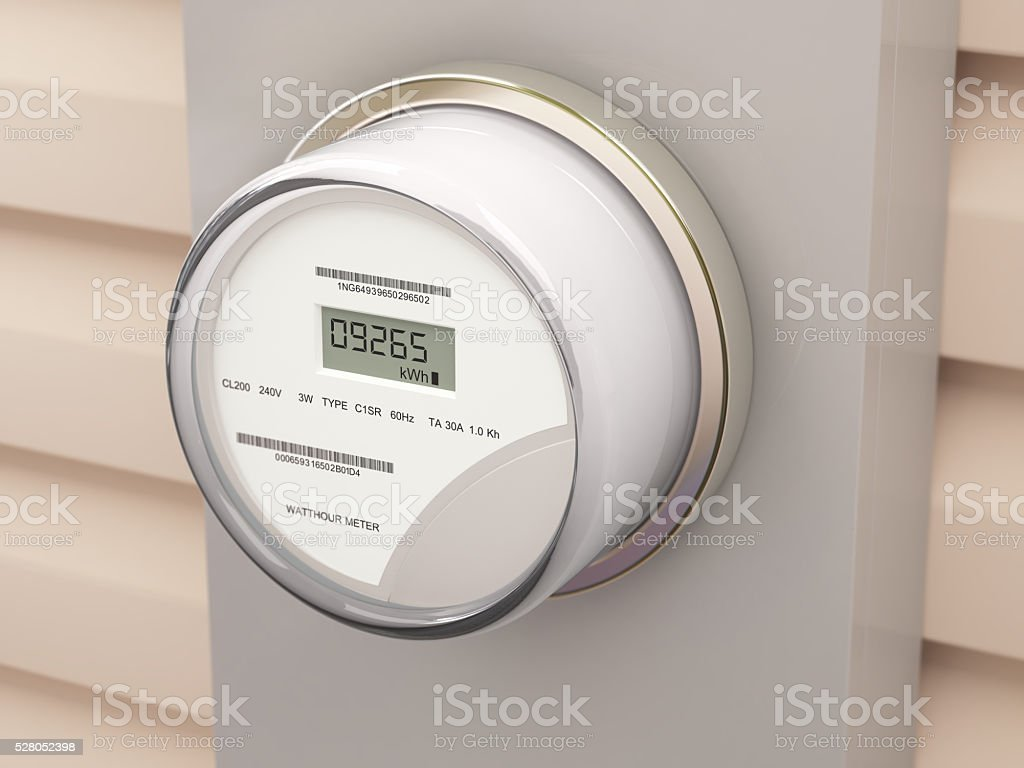 Smart Electric Meter stock photo