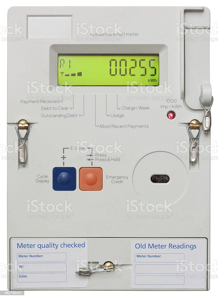 Smart Electricity Meter stock photo