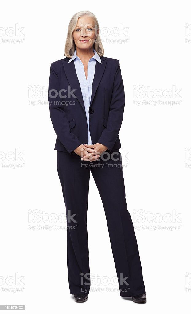 Smart Female Business Executive - Isolated stock photo