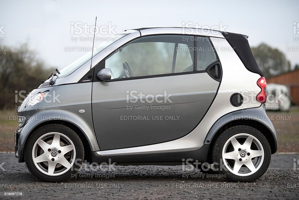 Smart fortwo cabrio  side view outdoors stock photo