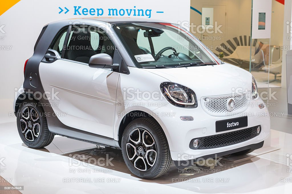 Smart ForTwo compact city car stock photo