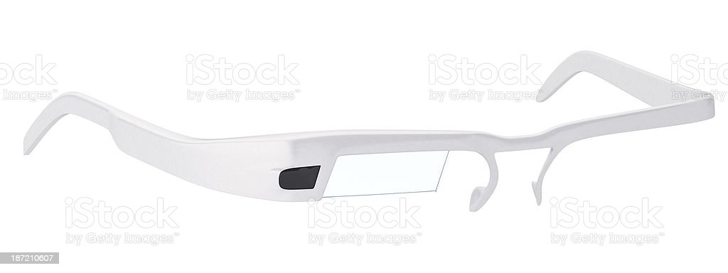 Smart glasses isolated on whie background stock photo