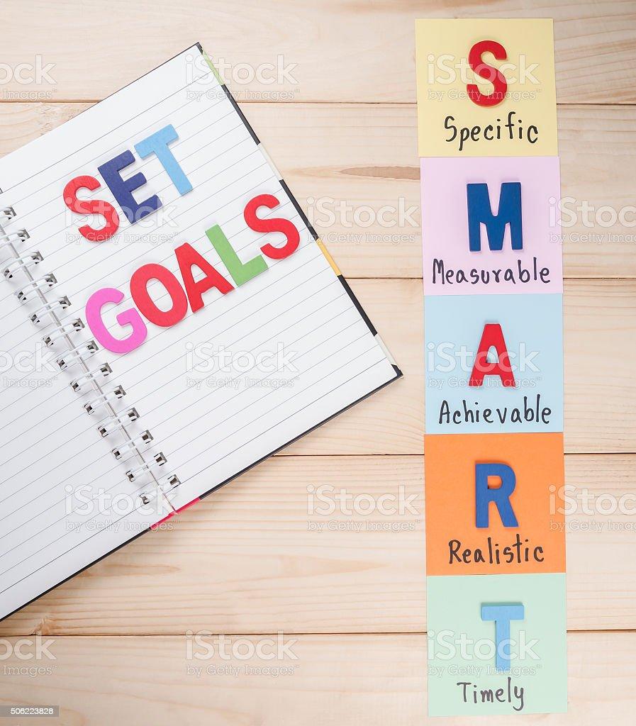 Smart Goal 3 stock photo