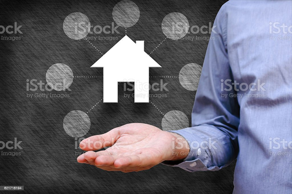 Smart home and home automation concept. stock photo