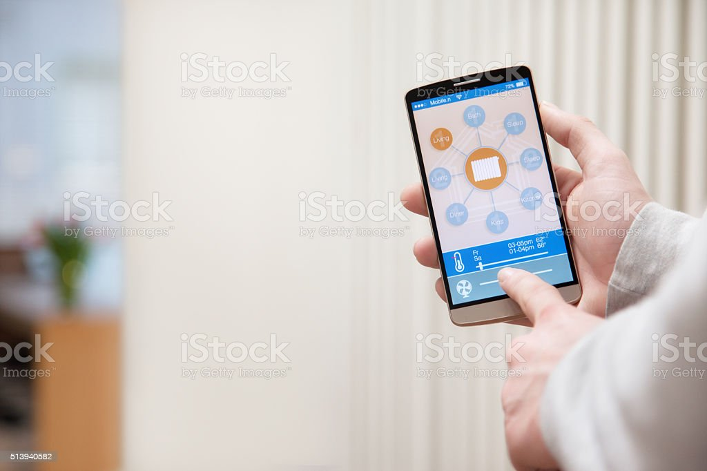 Smart home automation system stock photo