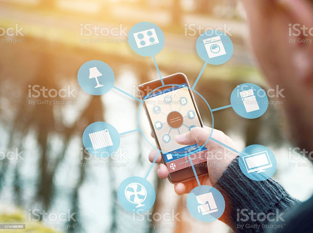 Smart Home Device - Home Automation stock photo