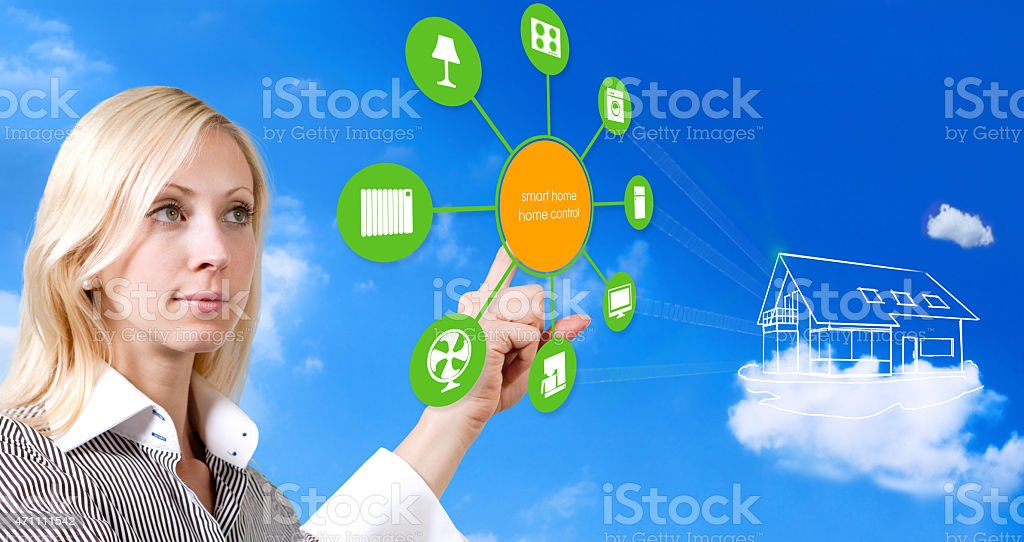 Smart Home Device - Home Control, House Automation stock photo