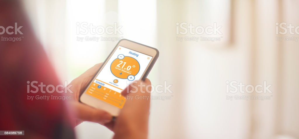 Smart Home Heating stock photo