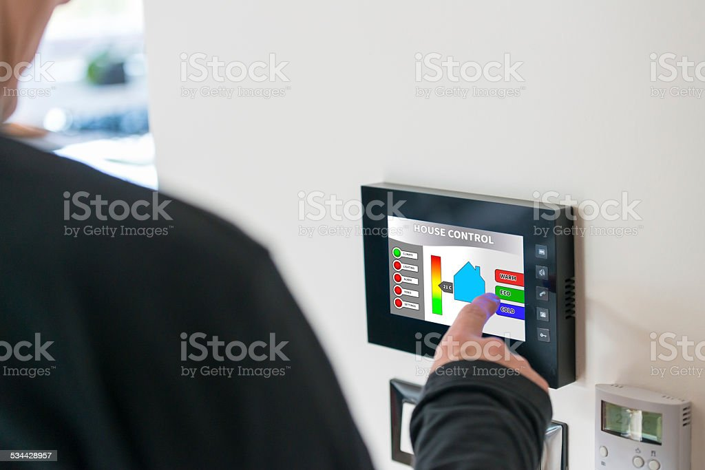 Smart house control unit stock photo