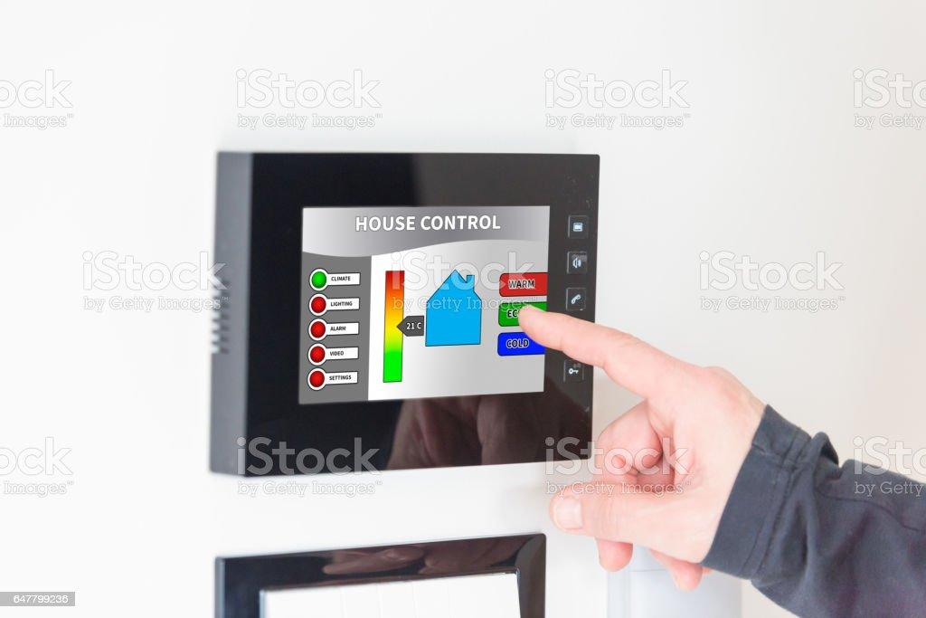 Smart House Phone smart house control unit stock photo 647799236 | istock