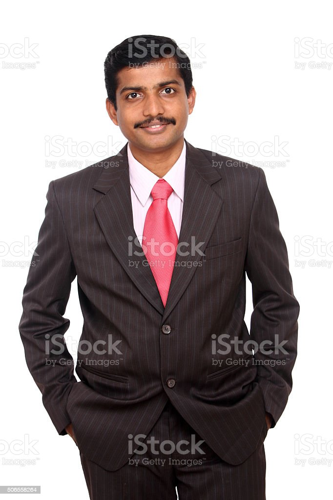 Smart Indian business man stock photo