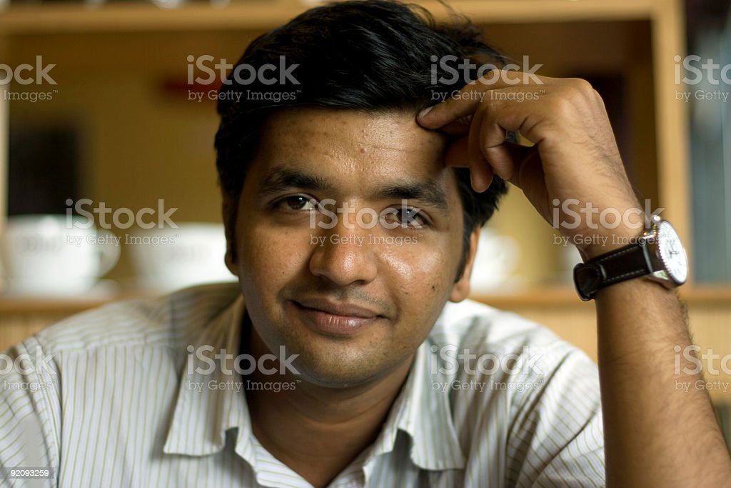 Smart Indian Youth smiling stock photo
