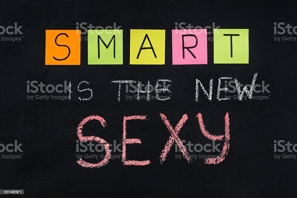 Smart is the new sexy stock photo