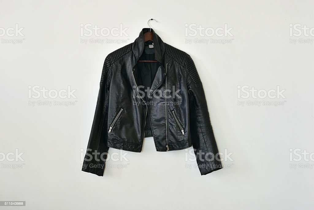 Smart leather jacket stock photo