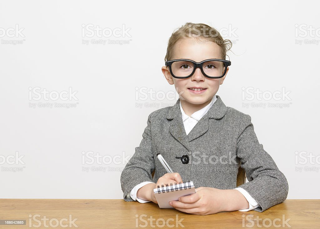Smart Little Businesswoman stock photo