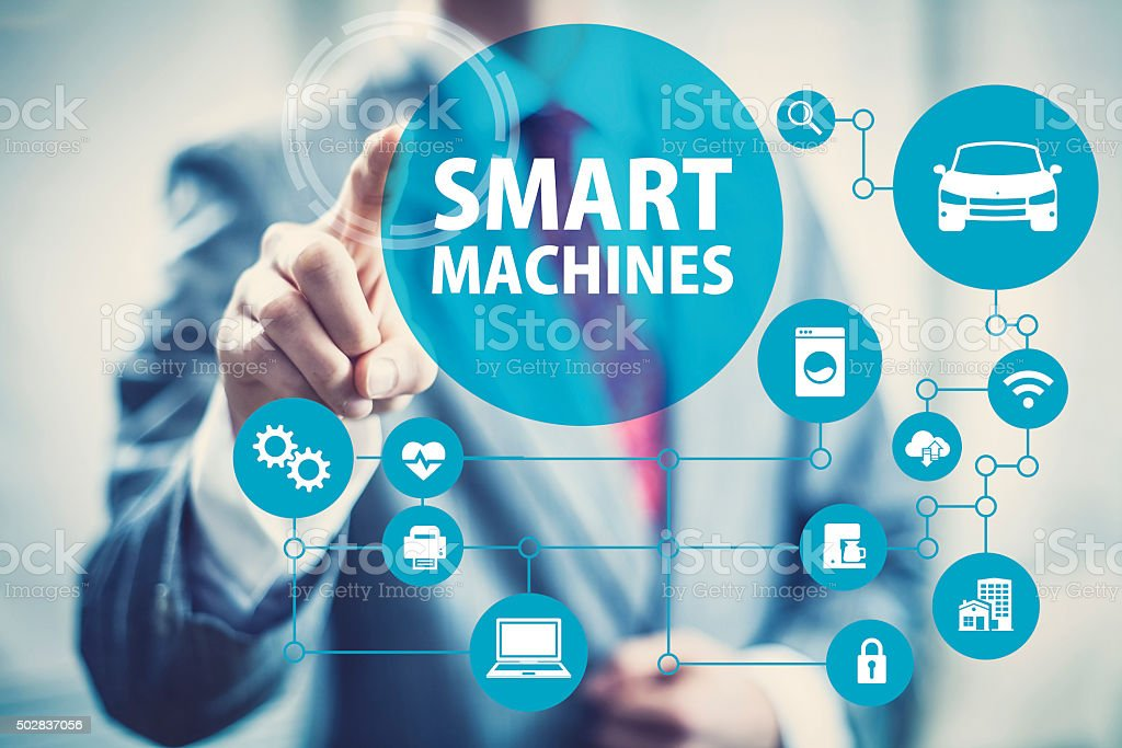 Smart Machines concept image stock photo