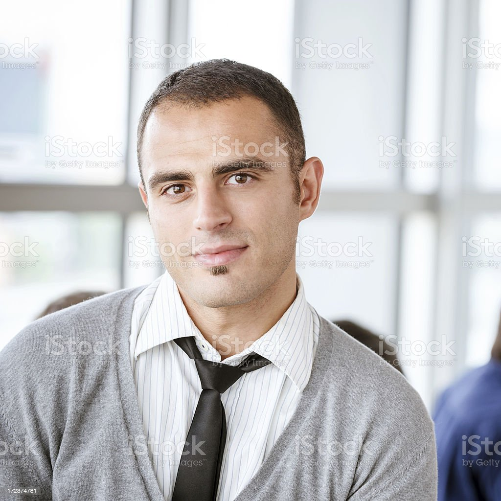 Smart Male Executive Sitting In Office royalty-free stock photo
