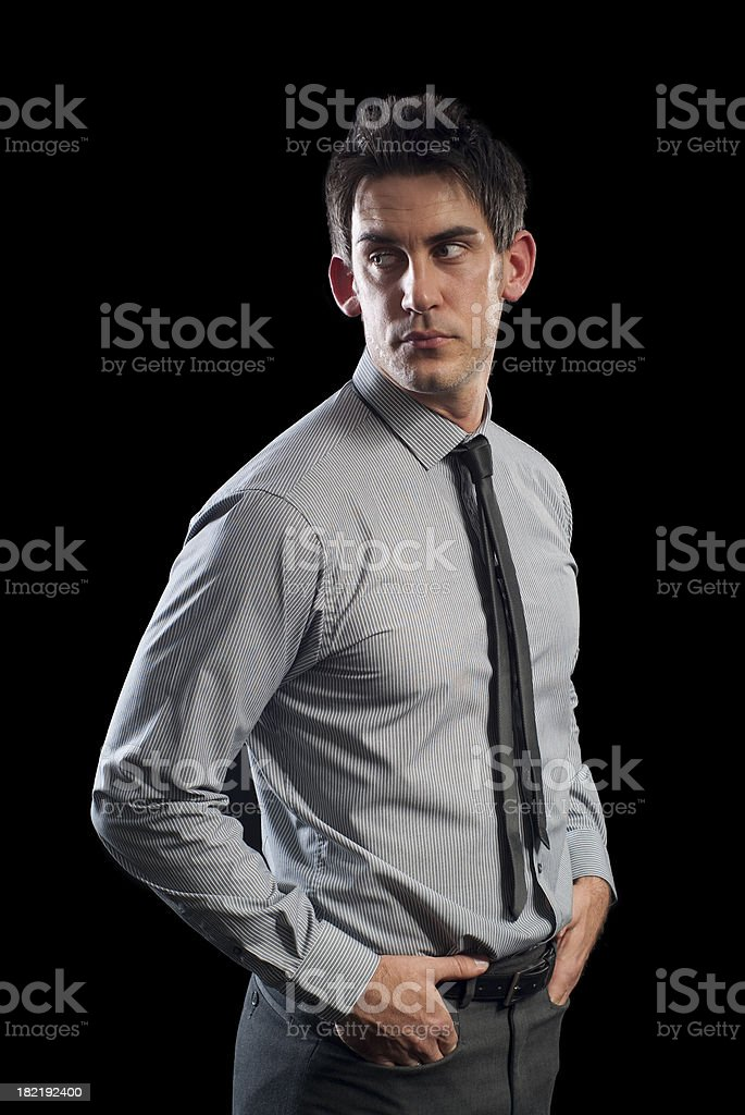 smart man looking to the side royalty-free stock photo